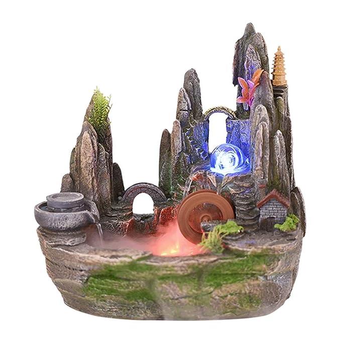 Fuentes de Interior Simulación de escritorio montaña Fuente de ...