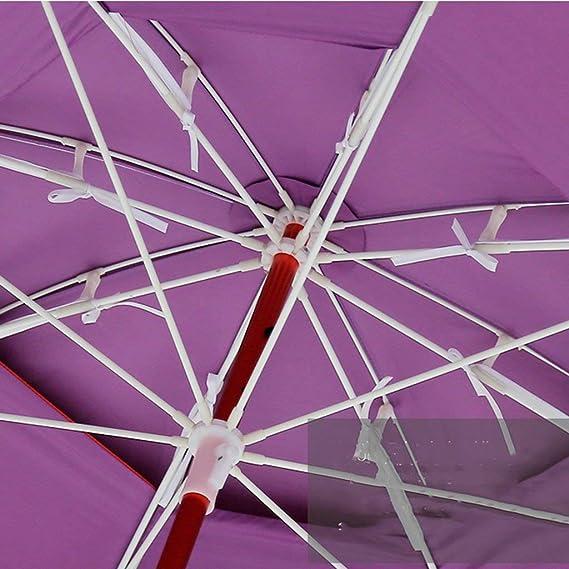 la p/êche Indispensable Les plages Fonction Anti-Violette couramment utilis/é dans Les Jardins Isolation Thermique L/&WB Parasol Portable inclin/é