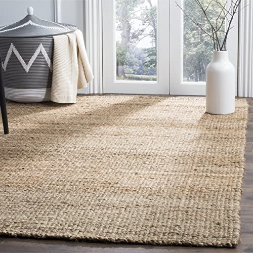 Safavieh Natural Fiber Collection NF732A Hand Natural Jute Square Area Rug 9' Square