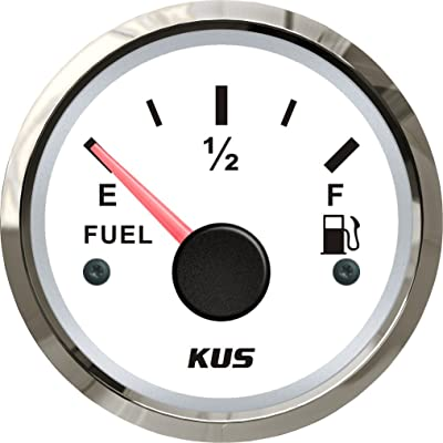 "KUS Fuel Level Gauge Meter Indicator 240-33ohm 52MM(2"") with Backlight 12V/24V: Automotive"