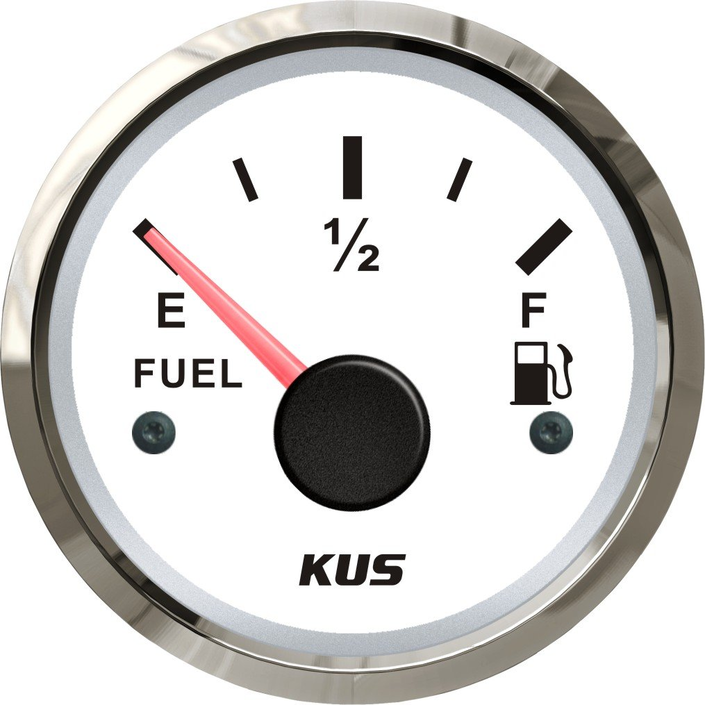 Kus Fuel Level Gauge Meter 0– 190ohm Signal 52  mm 12  V/24  V SPR