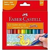 Gizão de Cera, Faber-Castell, Jumbo, 141112N, 12 Cores
