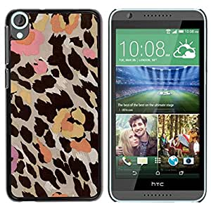 Paccase / SLIM PC / Aliminium Casa Carcasa Funda Case Cover para - Pattern Fur Flowers Pastel Abstract - HTC Desire 820