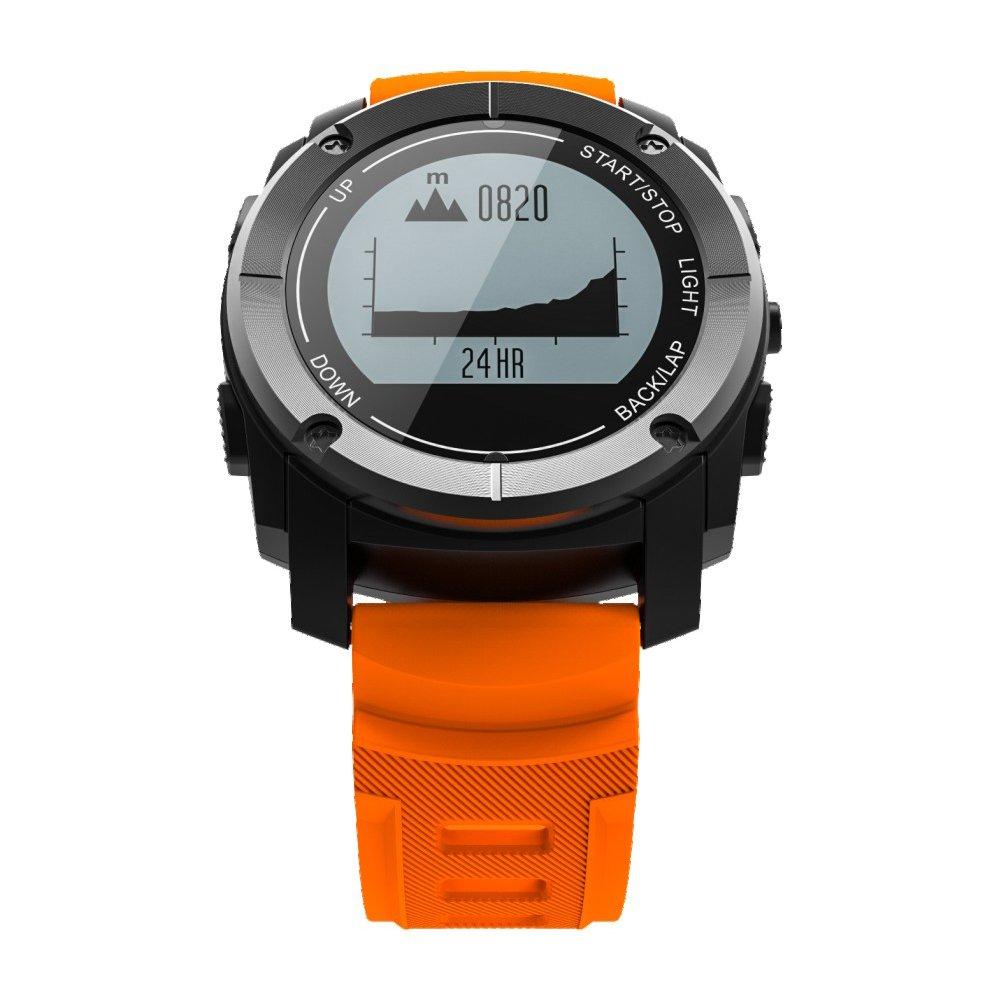 血圧スマートブレスレット心拍数 Wanfei スマートウォッチS928 Bluetooth屋外スポーツ腕時計GPSプロフェッショナルスポーツウォッチBluetoothスマートウォッチ新しい(梱包配送に) (オレンジ) B07DDF1C1B 16876 オレンジ オレンジ