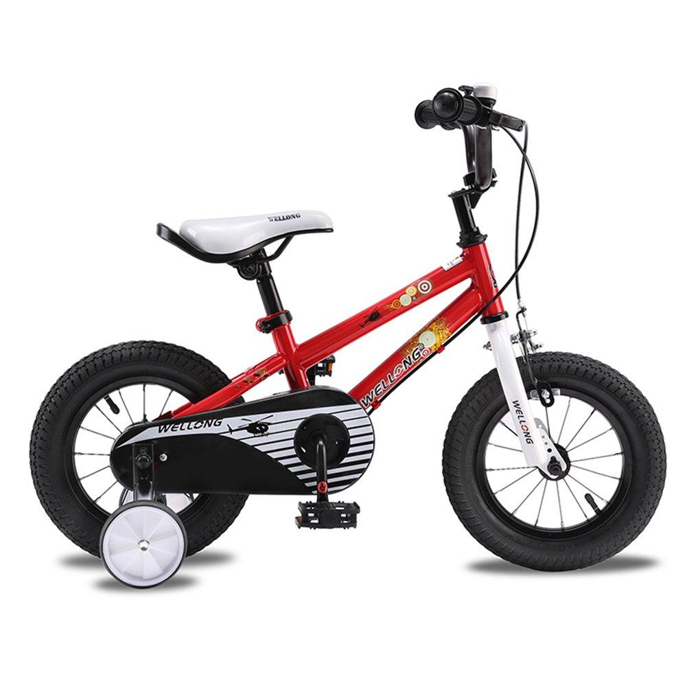 XQ 子供12歳の自転車の自転車の男の子の赤ちゃんのキャリッジの生徒2-6歳の自転車 子ども用自転車 ( 色 : 赤 ) B07CG7NVMY 赤 赤