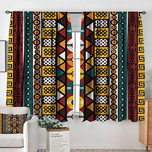 - Kente Pattern,Nursery/Baby Care Curtains Primitive Borders 42
