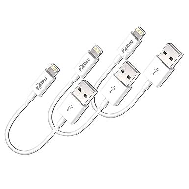 Amazon Com Short Lightning Cables Usb Charging Data Cord