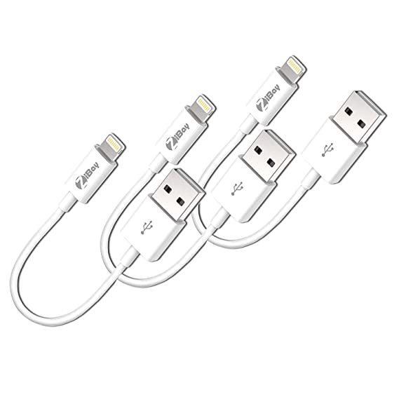 the best attitude 7eb3b 350c3 Short Lightning Cables, USB Charging Data Cord Compatible With iPhones,  iPads, and iPods [3-Packs]