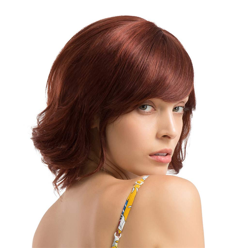 Wig,SUPPION Fashion Women 30 cm Short Curly Hair Hairstyle Human Hair Wigs Beautiful and Natural - Cosplay/Party/Costume/Carnival/Masquerade (A) by SUPPION (Image #2)