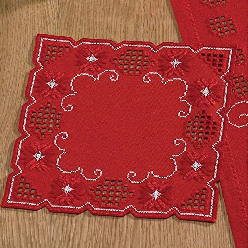 Permin Christmas Scroll Place Mat Hardanger - Trimmed Placemats