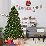 Goplus 7FT Pre-Lit PVC Artificial Christmas Tree Auto-spread/ clos (Small Image)