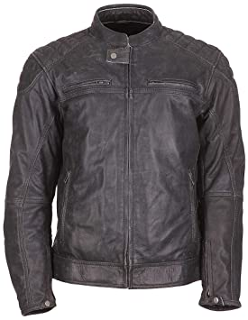 Modeka MEMBER - Cazadora de cuero negra para motocicleta ...