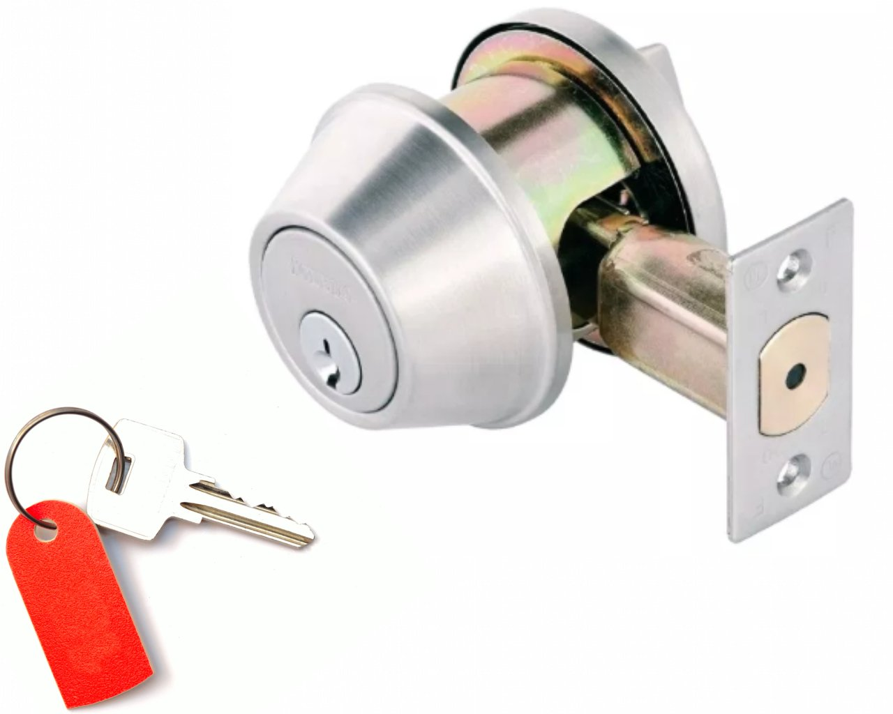 Door Dead Bolts : Single Cylinder Keyed - Commercial Grade 2 : Restricted High Security Key Lock : Keyed Alike When Several Purchased Per Order : By TOLEDO