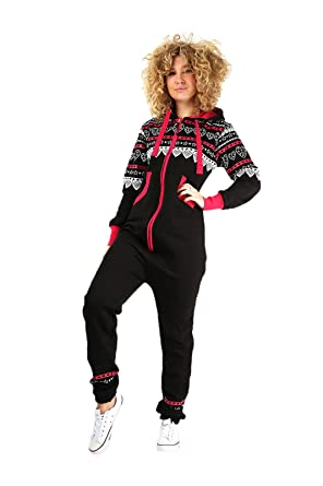 798758716dfb Parsa Fashions ® Womens Onesie Aztec Heart Print Ladies Jumpsuits One Piece  Onesie All in One