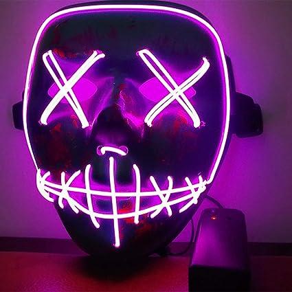 Immoch Halloween LED Máscaras Adultos LED Mask para Fiesta la Navidad Cosplay Festival Máscaras Brillan en la Oscuridad