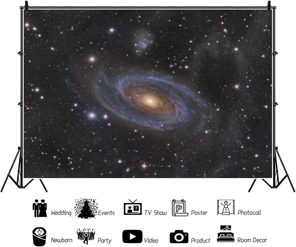 YEELE Starry Sky Backdrop 10x8ft Galaxy Milky Way Space Exploration Photography Background Space Theme Party Sci-fi Events Photobooth Photoshoot Props Banner Ditigal Wallpaper
