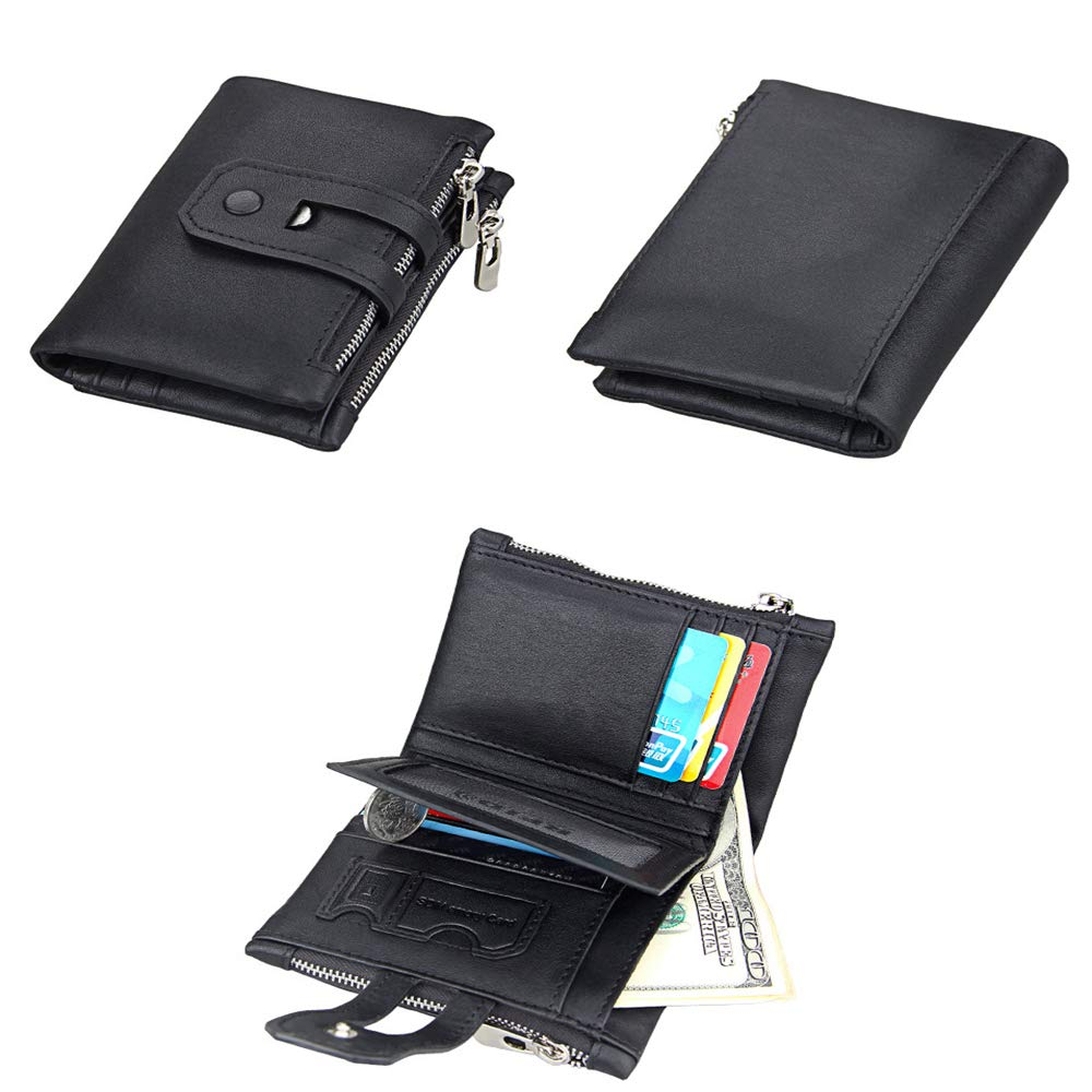 Envoyer des Parents,Brown Serrure RFID Convient /à Offrir en Cadeau Envoyer des Amis Cadeau danniversaire Porte-cl/és Portefeuille en Cuir pour Hommes Porte-Cartes de Visite