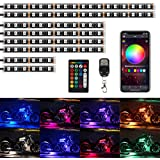 TACHICO Upgraded 8pcs Motorcycle LED Lights Kits, RGB Smart Brake IP67 Waterproof Accent Glow Neon with APP and Dual RF…