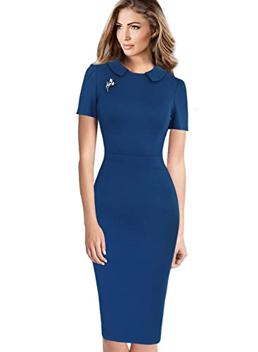 Vfemage Womens Elegant Vintage Wear to Work Business Bodycon Sheath Dress