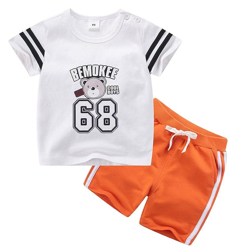 Boy Bear 68 Print Flowing Comfortable Cozy Athletic Short Clothing Set