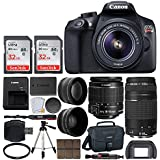 Canon EOS Rebel T6 Digital SLR Camera with 18-55mm EF-S f/3.5-5.6 IS II Lens + 58mm Wide Angle Lens + 2x Telephoto Lens + Flash + 64GB Memory Card + UV Filter + Tripod - Valued Accessory Bundle