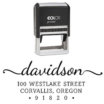 amazon com custom return address stamp personalized family address