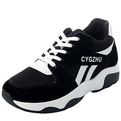 b6ace6f88da Mauea Baskets Femme Sport Running Fitness Mesh Respirantes Plateforme  Sneakers Basse Semelle Epais Chaussures Décontracté Course