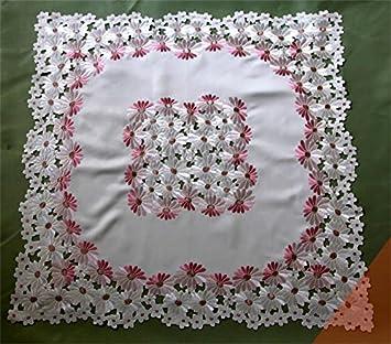 World- Continental manteles para mesa de café toalla lado Openwork bordado hecho a mano gamuza de mueble de TV para el polvo lavadora cubierta: Amazon.es: ...