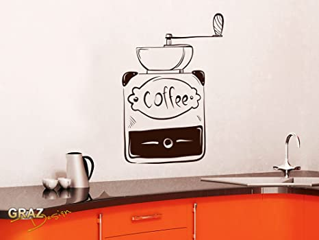 GRAZDesign Wandtattoo Küche Coffee alte Kaffeemühle: Amazon.de ...