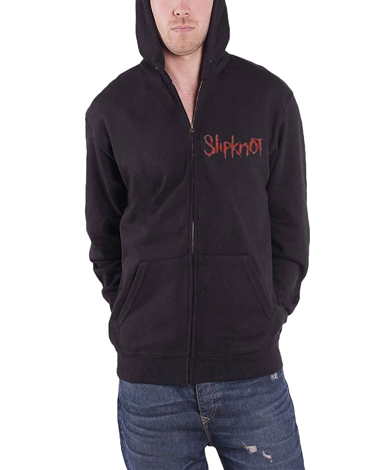 Slipknot Kapuzenpullover Skull Teeth band Herren Nue Schwarz Zipped