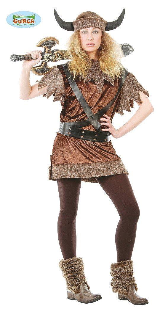 Guirca Viking – Disfraz de guerrero medieval Saxon de soltera disfraz de disfraz