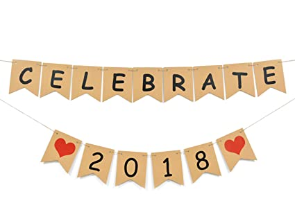 celebrate 2018 banner new year eve holidayschristmas gifts party decorations