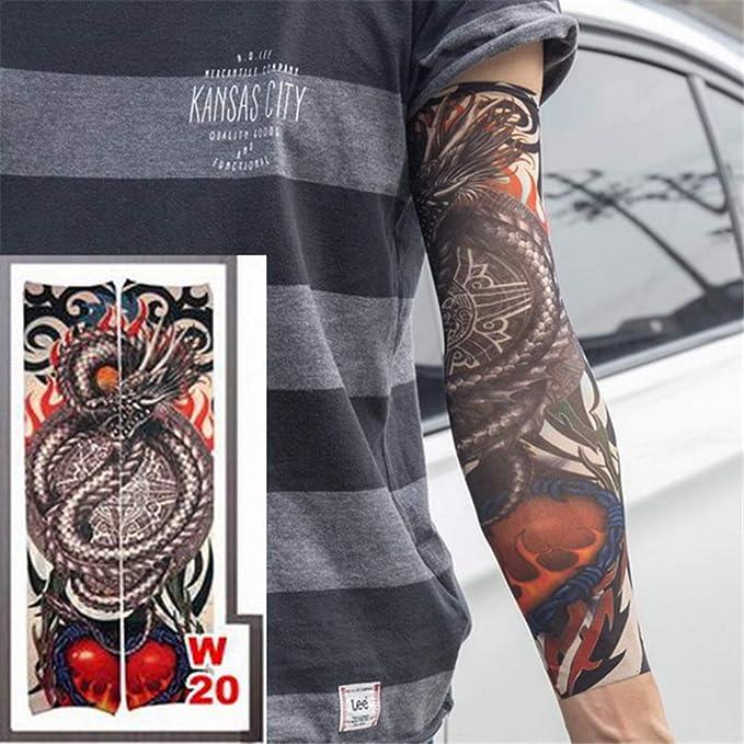 tzxdbh 3 unids Estilos de Manga del Tatuaje elástico 100% Nylon ...