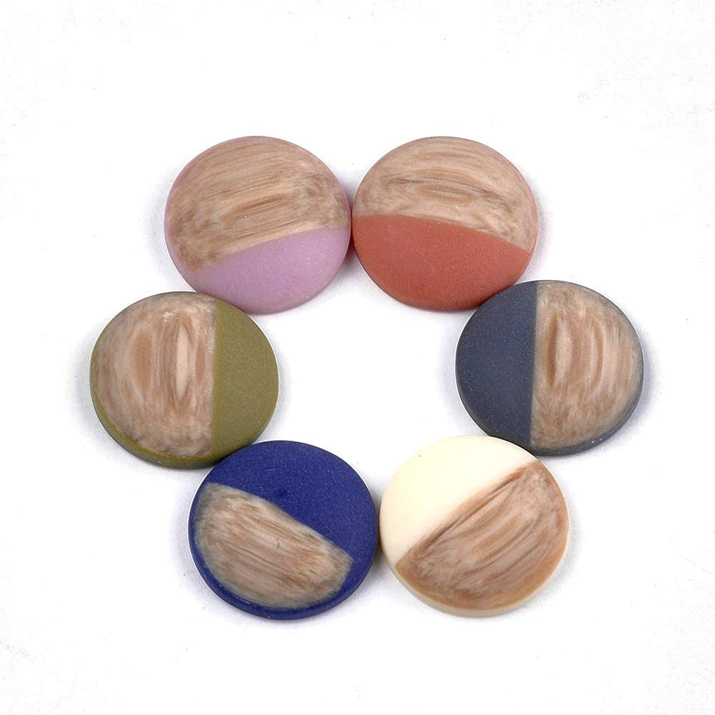 30pcs 8mm Resin Cabochon Cover Flatback Cameo Covers