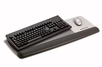 3M WR422LE - Alfombrilla de goma para ratón y teclado, negro: Amazon.es: Informática