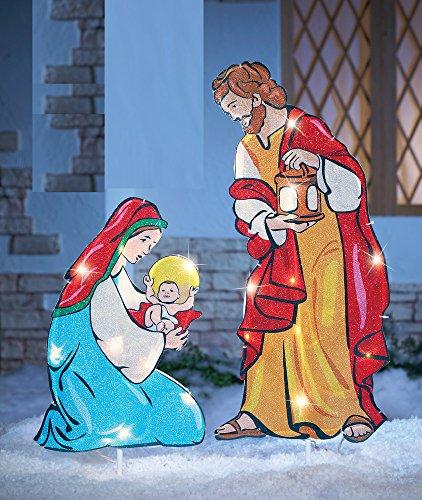 Lighted Outdoor Nativity Angel - 7