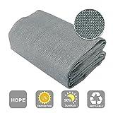 Shatex Shade Cloth Block 90% of UV Rays for Pergola/Greenhouses/Carport/Porch 6x12ft Grey