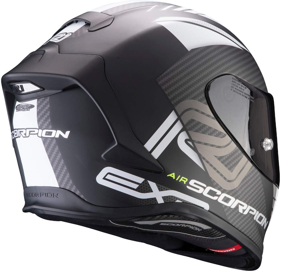 Scorpion CASCO EXO-R1 AIR HALLEY BLUE-NEON YELLOW M