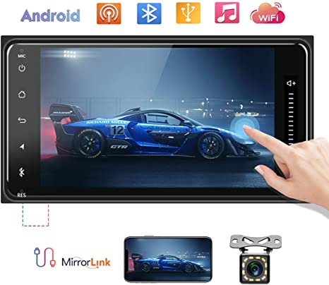 7/'/' 2DIN Car Stereo MP5 Player Bluetooth FM//AUX//USB Radio for Toyota Corolla