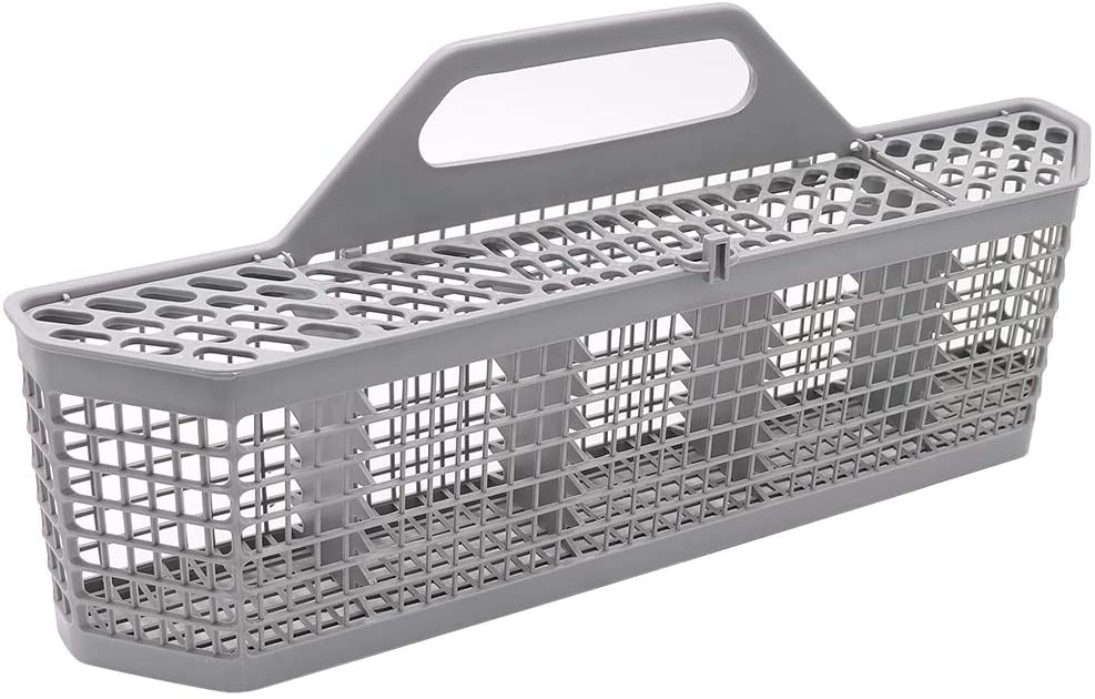 """Dishwasher Silverware Basket WD28X10128(19.7""""x3.8""""x8.4"""") Durable Utensils Basket By Primeswift Replacement for GE Kenmore AP3772889 WD28X10127,Sliver Grey"""