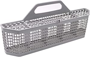 "Dishwasher Silverware Basket WD28X10128(19.7""x3.8""x8.4"") Durable Utensils Basket By Primeswift Replacement for GE Kenmore AP3772889 WD28X10127,Sliver Grey"