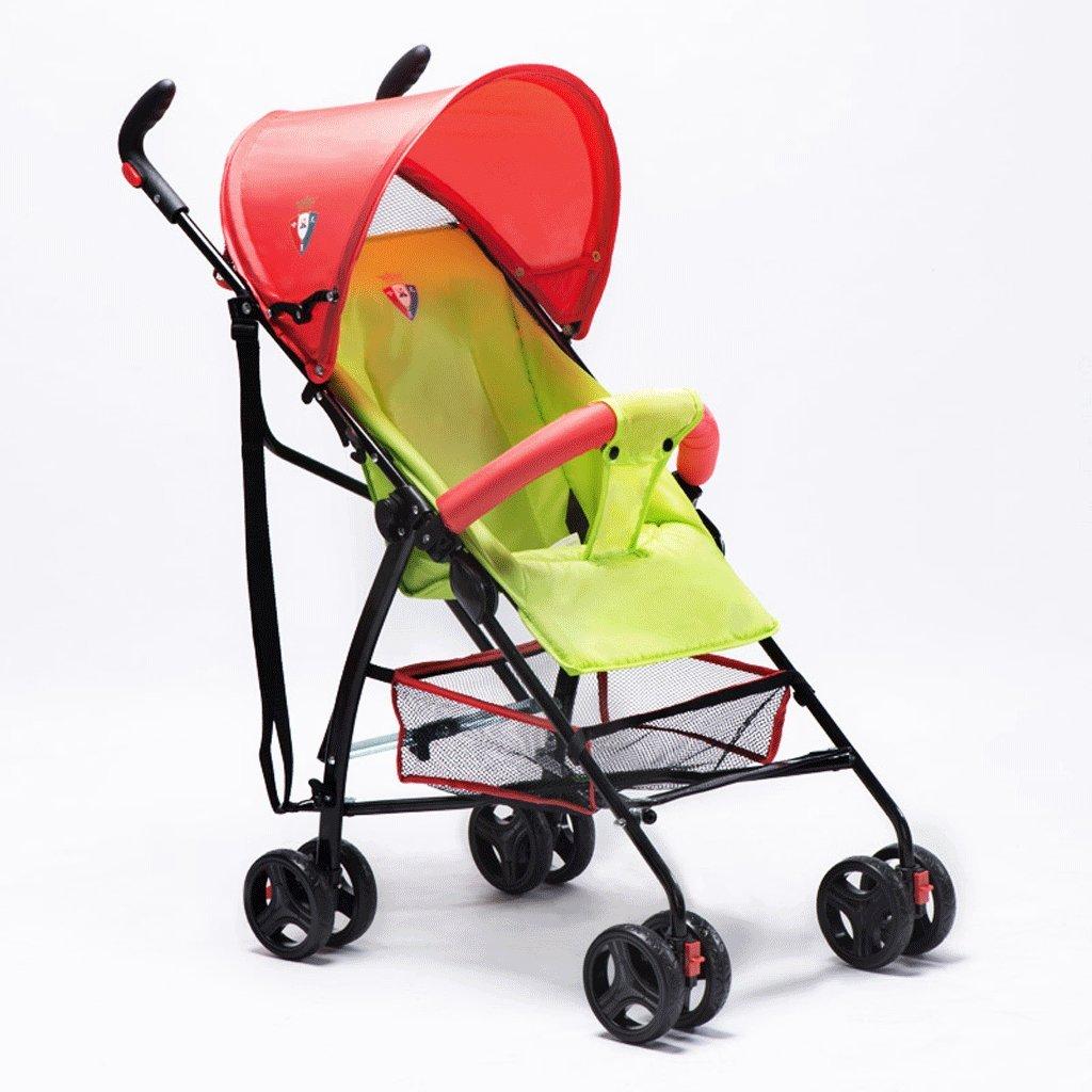赤ちゃんのベビーカー超軽量ポータブル折りたたみリクライニング子供傘の車(緑)63 * 48 * 97cm B07BVKQBBW