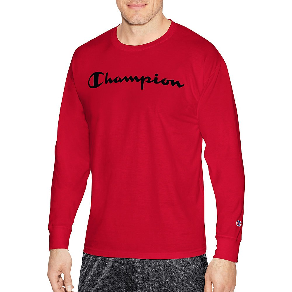 Champion LIFE Men's Cotton Long Sleeve Tee, Team