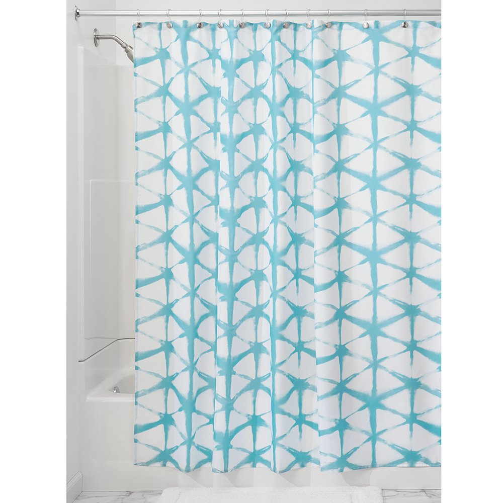 Amazon InterDesign Diamond Fabric Batik Shower Curtain Teal Home Kitchen