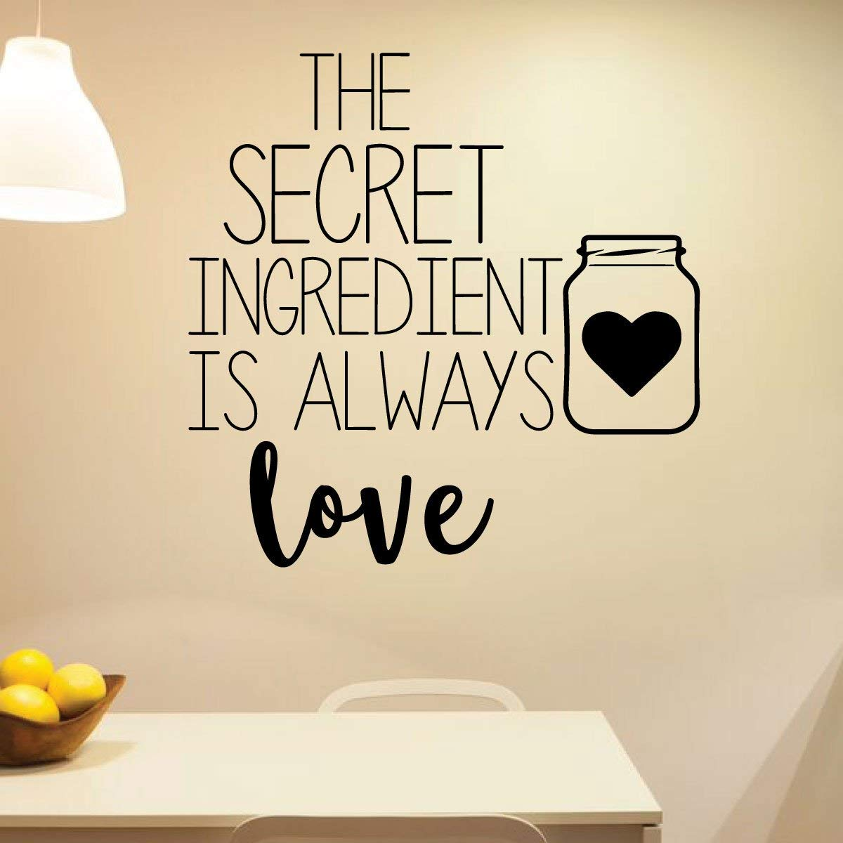 Amazon Com Kitchen Wall Vinyl Decor Sticker Love The Secret Ingredient Farmhouse Style Dining Room Decoration Black White Brown Green Yellow Red Blue Other Colors Small Large Sizes Handmade