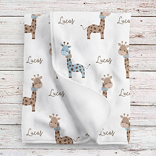Personalized Giraffe Baby Blanket