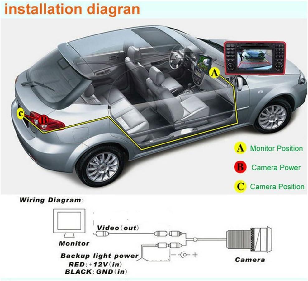 for Honda Odyssey 2006~2009 Car Rear View Camera Back Up Reverse Parking Camera//Plug Directly