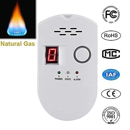 Natural Digital Gas Detector, Home Gas Alarm , Gas Leak Detector, High Sensitivity LNG Coal Natural Gas Leak Detection , Alarm Monitor Sensor for Home ...