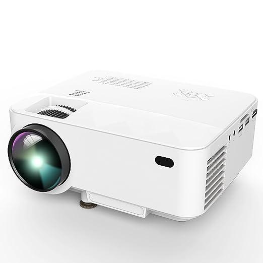 61 opinioni per Proiettore con Cavo USB, Video Multimedia Home Theater con Cavo HDMI, Supporto