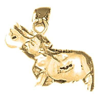 Silver Yellow Plated Horse Charm 19mm